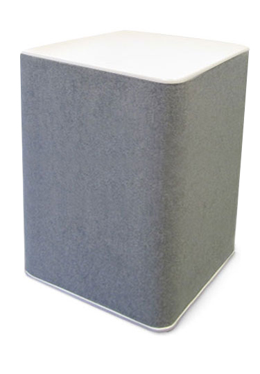 800mm high portable plinths ideal for trade show events.