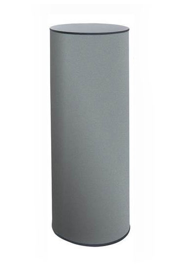 Round portable plinths 1000mm (1 metre) high with choice of 400 and 500mm dia. worktop