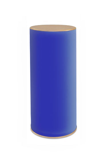 Round portable plinths 800mm high with choice of worktop sizes.