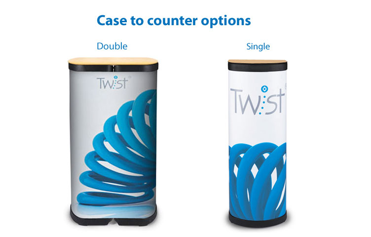 Case to counter options - Single or double counters