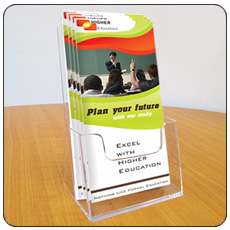 1/3 A4 Table Top Leaflet Holders - Pack of 4
