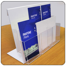 Double Tier 1/3 A4 6 Pocket Leaflet Holder