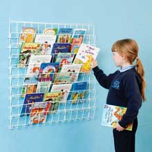 Square Wire Book Rack